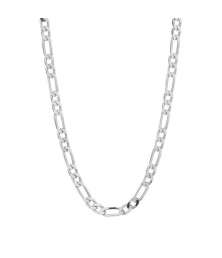 Collier Homme Argent 925 - Maille Figaro Alternée 1+2