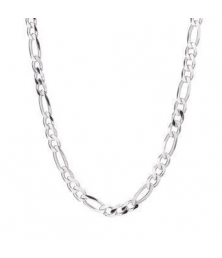 Collier Homme Argent 925 - Maille Figaro Alternée 1+3