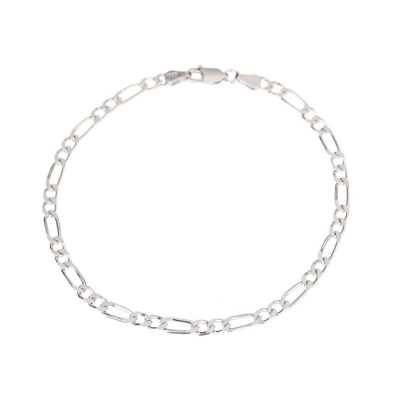 collier argent homme maille figaro
