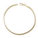 Bracelet Or Jaune Maille Haricot - Femme