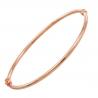 Bracelet Jonc OR Rose Véritable - Femme
