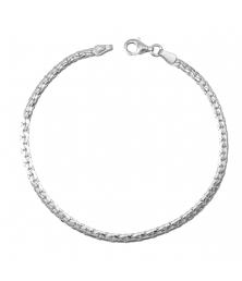 Bracelet Maille Haricot - Or Blanc - Femme