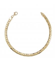 Bracelet Maille Haricot - Or Jaune - Femme