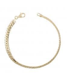 Bracelet Maille Anglaise - Or Jaune - Femme