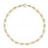 Bracelet Femme Or 18 Carats - Maille Grain de Café - Jaune
