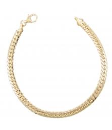 Bracelet Or Jaune Maille Anglaise - Femme