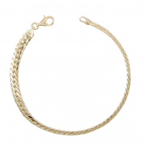 Bracelet Femme Or Jaune 18 Carats - Maille Anglaise
