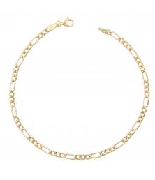 Bracelet Femme Or Jaune 18 Carats - Maille Figaro Alternée 1+3