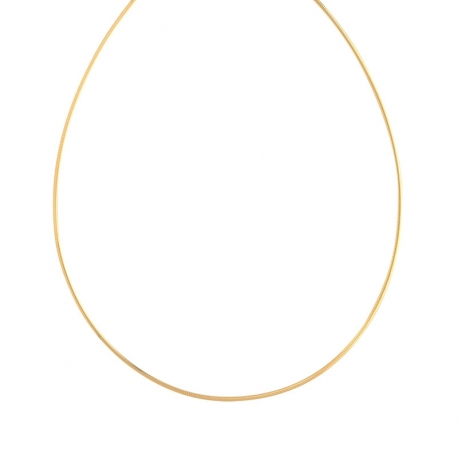 Collier Femme Or - Maille Oméga - Bicolore