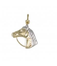 Pendentif Cheval - Equitation - Or - Enfant