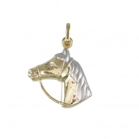 Pendentif Cheval - Equitation - Or Jaune - Enfant