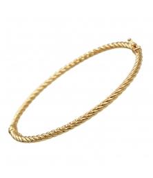 Bracelet Jonc Torsadé OR Jaune - Femme