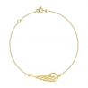 Bracelet Femme Or Jaune - Motif Aile d'Ange