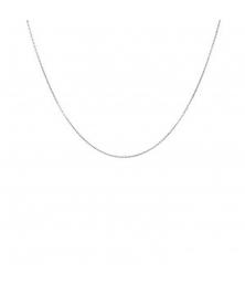 Collier Chaine Forçat Diamantée - Or Blanc Véritable - Enfant