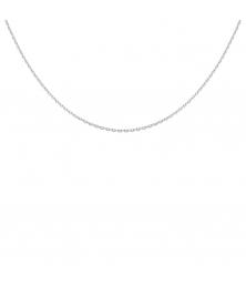 Collier Chaine Forçat Diamantée - Or Blanc - Femme ou Enfant