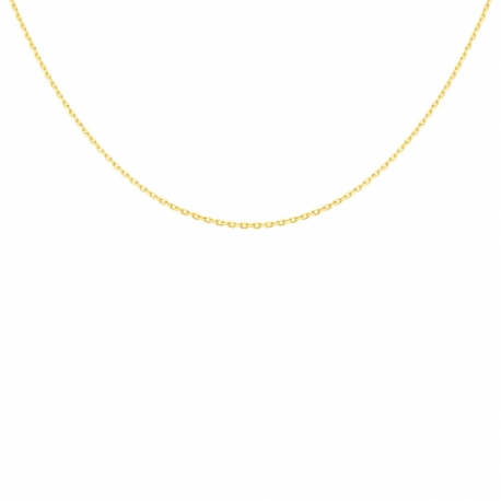 Collier Chaine Forçat Diamantée - Or Jaune Véritable - Femme ou Enfant