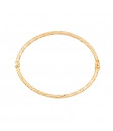 Bracelet Jonc Effet Diamanté OR Jaune - Femme