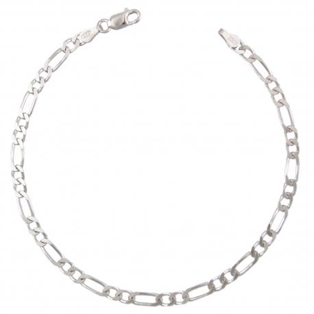 Bracelet Homme Argent 925 - Maille Figaro Alternée 1+2