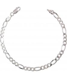 Bracelet Argent 925/000 Maille Figaro Alternée 1+3 - Homme