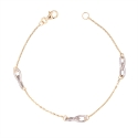 Bracelet Motif Infini - Or Bicolore Jaune et Blanc - Femme