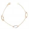 Bracelet Femme Or Bicolore Jaune et Blanc
