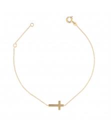 Bracelet Croix Or Jaune - Femme