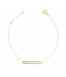 Bracelet Or Jaune - Femme - Motif Barrette