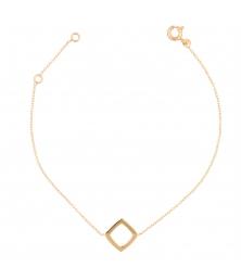 Bracelet Or Jaune - Femme - Motif Losange
