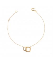 Bracelet Or Jaune - Femme - Motif Losanges