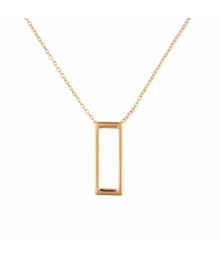 Collier Motif Rectangle - Or Jaune - Femme