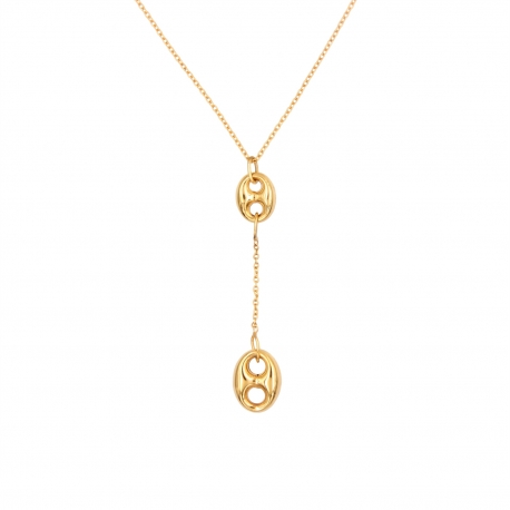 Collier Motif Grains de Café Pendants - Or Jaune - Femme