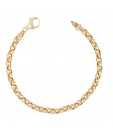 Bracelet Maille Forçat Ronde - Or 18 Carats Jaune - Femme