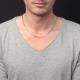 Collier / Chaîne Homme Argent 925 - Maille Figaro Alternée 1+1 - 60cm