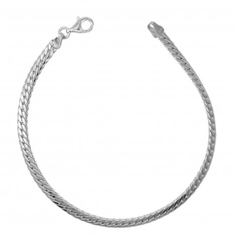 Bracelet Femme Or Jaune - Maille Anglaise