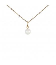 Collier - Pendentif Perle Or Jaune - Femme ou Enfant
