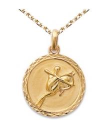 Zodiaque Sagittaire - Médaille Plaqué Or Jaune 750