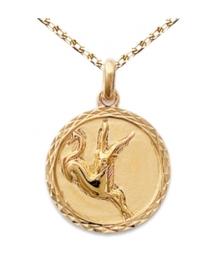 Zodiaque Capricorne - Médaille Plaqué Or Jaune 750 - Gravure Offerte