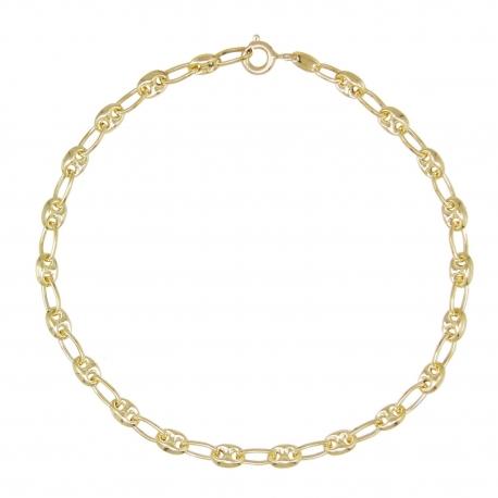 Bracelet Femme Or Jaune - Maille Grain de Café