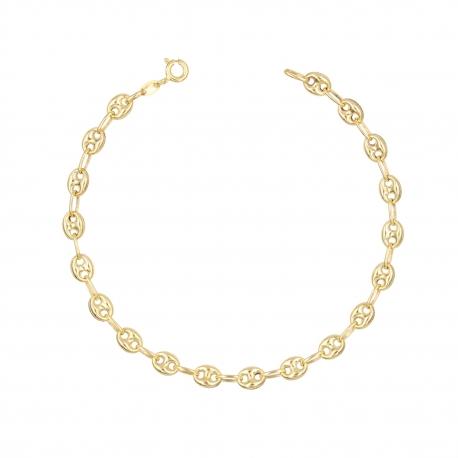 Bracelet Maille Grain de Café - Or Jaune - Femme
