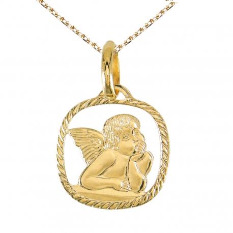 Médaille Ange Or Jaune - Chaîne Dorée Offerte