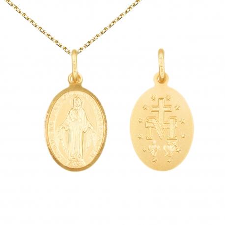 Pendentif - Médaille Vierge Miraculeuse - Or Jaune