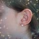 Boucles d'Oreilles Perles de Culture - Or Jaune Véritable - Coeur serti d'un zirconium - Femme