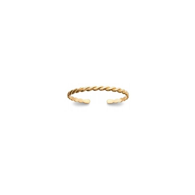 Bracelet Jonc Ouvert Plaqué Or - Femme