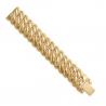Bracelet Maille Américaine Plaqué Or - Femme