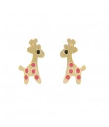 Boucles d'Oreilles Girafes - Or Jaune - Enfant