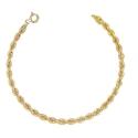 Bracelet Femme Or Jaune - Maille Corde