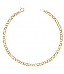 Bracelet Femme Or Jaune - Maille Forçat Ronde