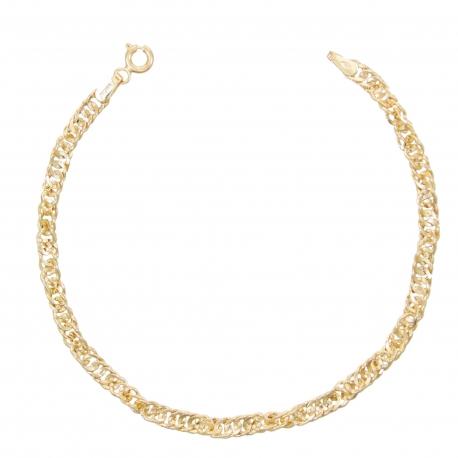 Bracelet Femme Or Jaune - Maille Singapour