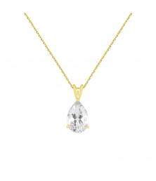 Collier - Pendentif Or Jaune Zirconium Goutte - Femme