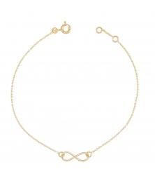 Bracelet Femme Or Jaune - Motif Infini